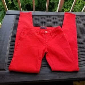 Juicy Coutre Bright Red Skinny Studded Jeans 27